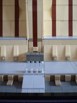Lego Star Wars Jedi Temple in Architecture Styl Eingang
