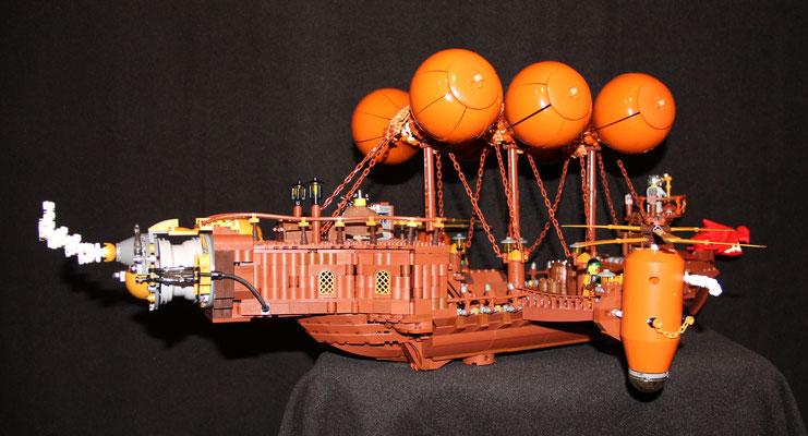 Lego Steampunk Fliegender Händler Luftschiff hinten