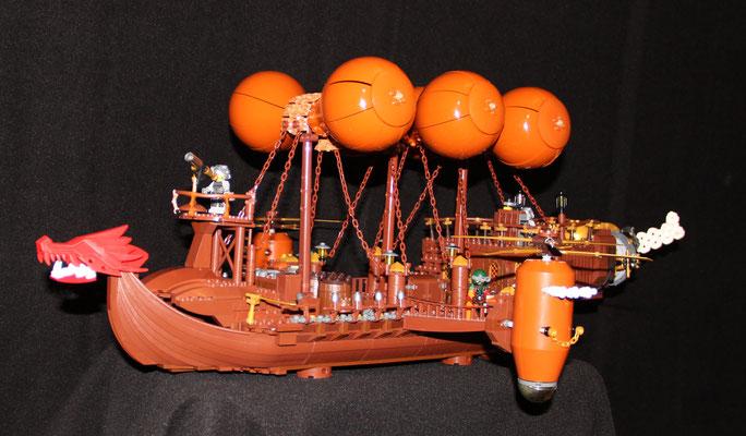 Lego Steampunk Fliegender Händler Luftschiff Seite