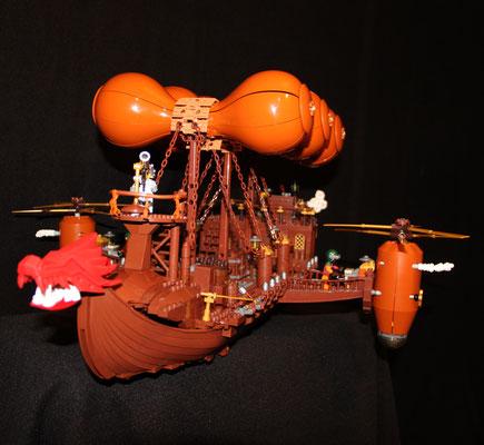 Lego Steampunk Fliegender Händler Luftschiff vorne
