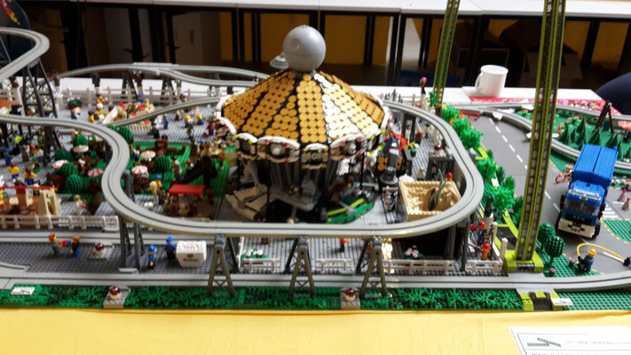 Lego Monorail Geisterbahn MoRaSt Freizeitpark Star Wars Großes Karussell