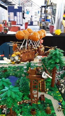 Lego Steampunk Fliegender Händler Luftschiff Waldboden Köhlerei Monorail MoRaSt