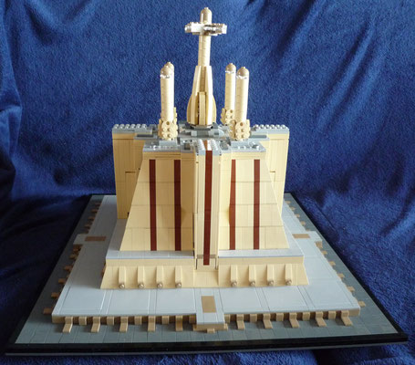Lego Star Wars Jedi Temple in Architecture Styl hinten