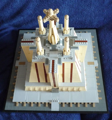 Lego Star Wars Jedi Temple in Architecture Styl Draufsicht
