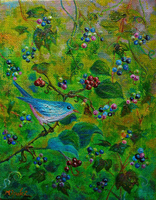 野葡萄と青い鳥 F0  sold out