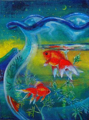 窓辺の金魚鉢 F0  sold out