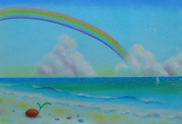 海岸の虹   39cmx27cm