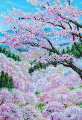 《吉野の春》SM ◆これはこれはと ばかり 花の吉野山 /安原貞室◆よし野にて 桜見せふぞ 檜の木笠 /松尾芭蕉