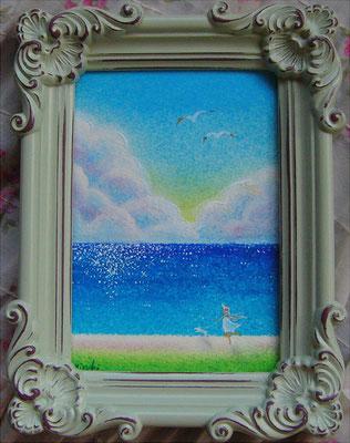 《海散歩》  アンティークフォトフレーム12cmX16cmX2cm  sold out