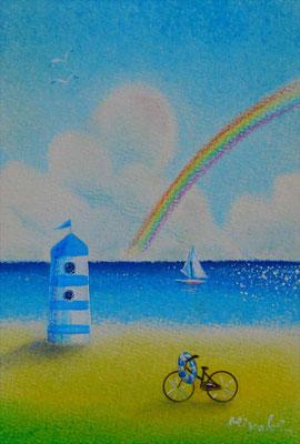 《夏雲奇虹》ポストカードサイズ / タイトルは『夏雲奇峰』からの造語です。sold out