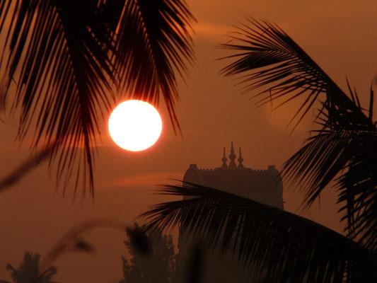 Atardecer en Mysore, sur de la India