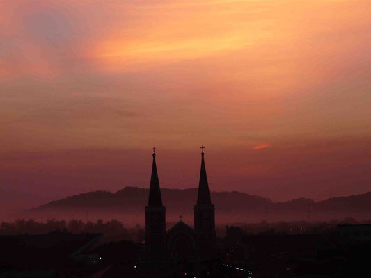 Sunrise over Chanthaburi, Thailand