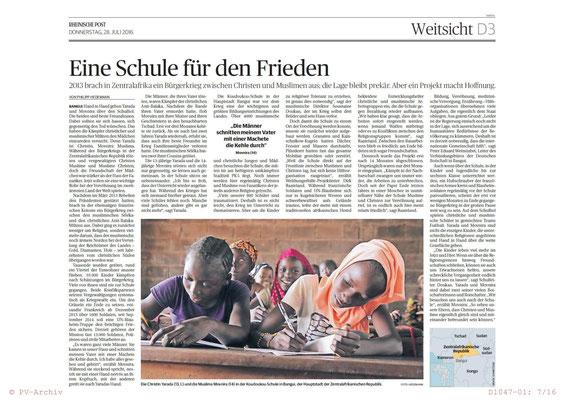 Beitrag in der Rheinischen Post