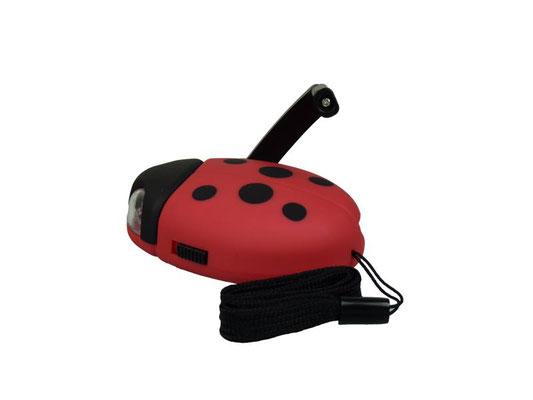 Ladybug Kindertaschenlampe mit Kurbel