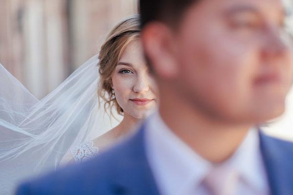 Brautpaar im Schlossgarten Schwetzingen