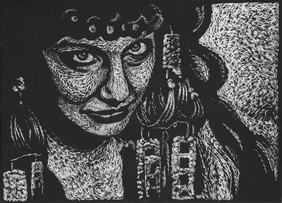 Fellini / Holzschnitte 2015