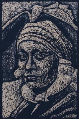 Casanova - Margaret-Clementi - Holzschnitt 2015 / 150cm x 100cm