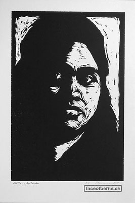 """Abitha - Sri Lanka  """"Ich bin kreativ und meine grosse Leidenschaft ist auf einer grossen Leinwand zu malen. Es macht mich glücklich. So kann ich mich ausdrücken. Ich wünsche mir eine Kunstschule zu besuchen."""""""