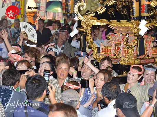 〈八重垣神社祇園祭〉女神輿連合渡御:砂原町区 @2017.08.04 YEGK17_010