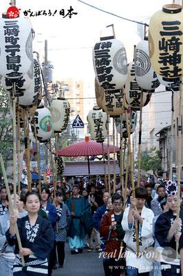 〈三崎稲荷神社例大祭〉先導行列 @2012.05.05