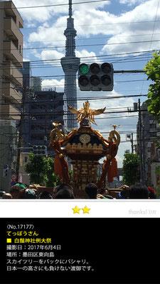 てっぽうさん:白鬚神社御祭禮, 2017年6月4日,墨田区東向島