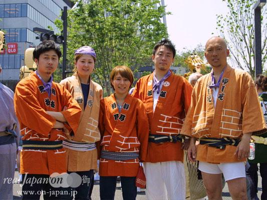 錦糸二丁目さん。地元は亀戸天祖神社、9月の第三週。一年の中心が祭り!