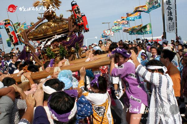 〈羽田まつり・各町神輿連合渡御〉中村祭友會