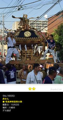 虎さん:有馬神明神社例大祭, 2016年10月2日, 川崎市