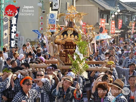 〈八重垣神社祇園祭〉神輿連合渡御:萬町区 @2018.08.05 YEGK18_035