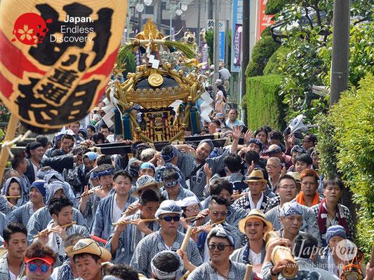 〈八重垣神社祇園祭〉神輿連合渡御:上出羽区 @2018.08.05 YEGK18_016