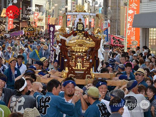 〈八重垣神社祇園祭〉神輿連合渡御:仲町区 @2018.08.05 YEGK18_039