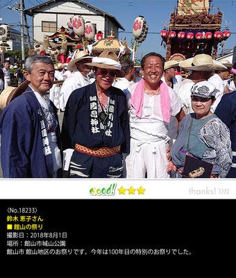 鈴木 恵子さん:館山の祭り, 2018年8月1日, 館山市城山公園