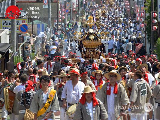 〈八重垣神社祇園祭〉神輿連合渡御:西本町区 @2018.08.05 YEGK18_022