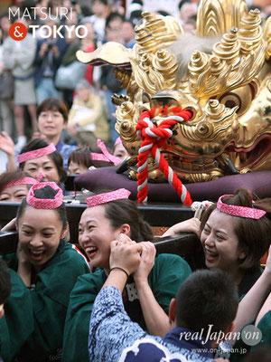 〈神田祭 2017.5.14〉江戸神社奉賛会(旧神田市場) 獅子頭 ©real Japan'on -knd17-043