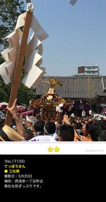 てっぽうさん:三社祭, 2017年5月20日,浅草,浅草神社例大祭