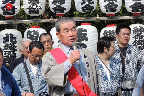 塚越稲荷神社奉賛会:会長 高橋慶助 氏