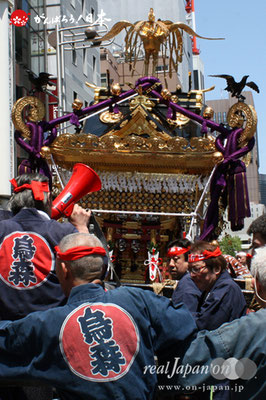 〈烏森神社例大祭〉本社大神輿・出発(宮出し) @2012.05.05