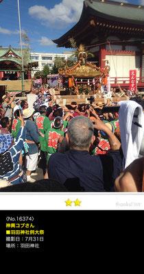 神輿コブさん:羽田神社例大祭, 2016年7月31日