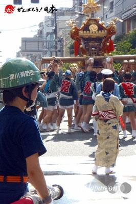 〈深川神明宮例大祭〉神輿連合渡御 宮元: 森下一丁目 @2012.08.19