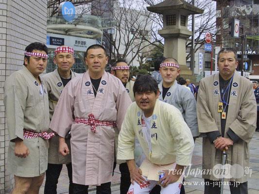 風 さん。奉祝パレードは5回目。地元、立川 諏訪神社の祭は8月第4週!祭の魅力?目立ちたがり屋の集団なのかな?