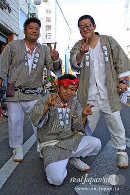 西本町囃子連さん。中学・高校からほぼかかさず参加してます!一年に一度のダチとの大切な再会の場です!