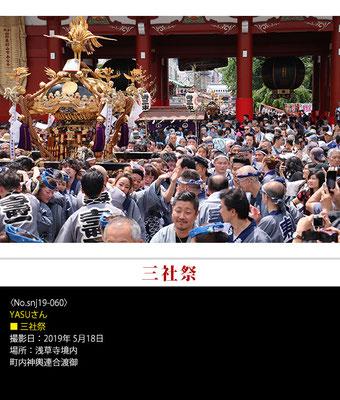 YASUさん:三社祭 ,2019年5月18日