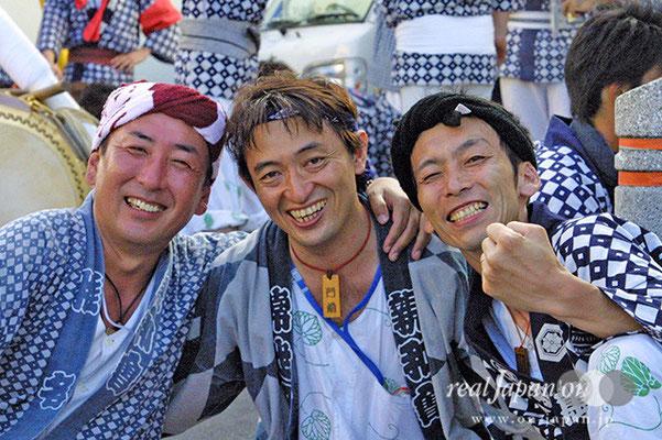 萬町親和會さん。八重垣祇園祭は生まれた時から参加している命をかけたもので自分の全て。祭りの日が元旦です!