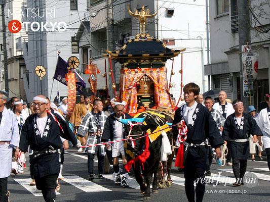 牛嶋神社大祭, 神幸祭, 2017年9月15日・16日〈広大な氏子エリアを2日にわたって巡行される鳳輦・神幸祭〉