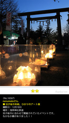 nanumotoさん:羽子板市和紙、ひかりのア-ト展, 2016年12月18日, 浅草神社参道, 羽子板市に合わせて開催されていたイベントです。なかなか趣がありました!!