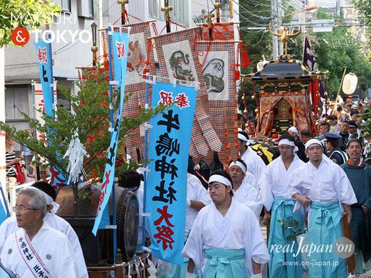 牛嶋神社大祭, 神幸祭, 2017年9月15日・16日〈神幸祭の全行程は、約35キロメートルの長丁場〉