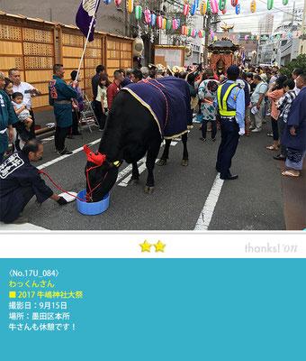 わっくんさん:2017牛嶋神社大祭, 墨田区本所, 2017年9月15日