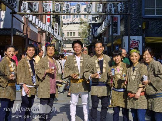 浅草東さん。祭は思いっきり発散できる!イキイキできるよね。岸和田だんじり(9月開催)もおススメ!