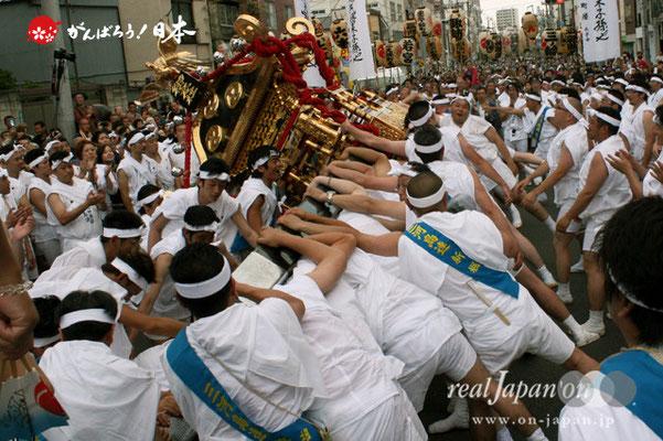 素盞雄神社・天王祭〈本社大神輿・宮入道中〉 @2012.06.03