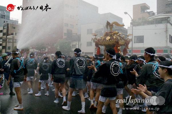 〈富岡八幡宮例大祭〉神輿連合渡御 二番: 古石場二 @2012.08.12